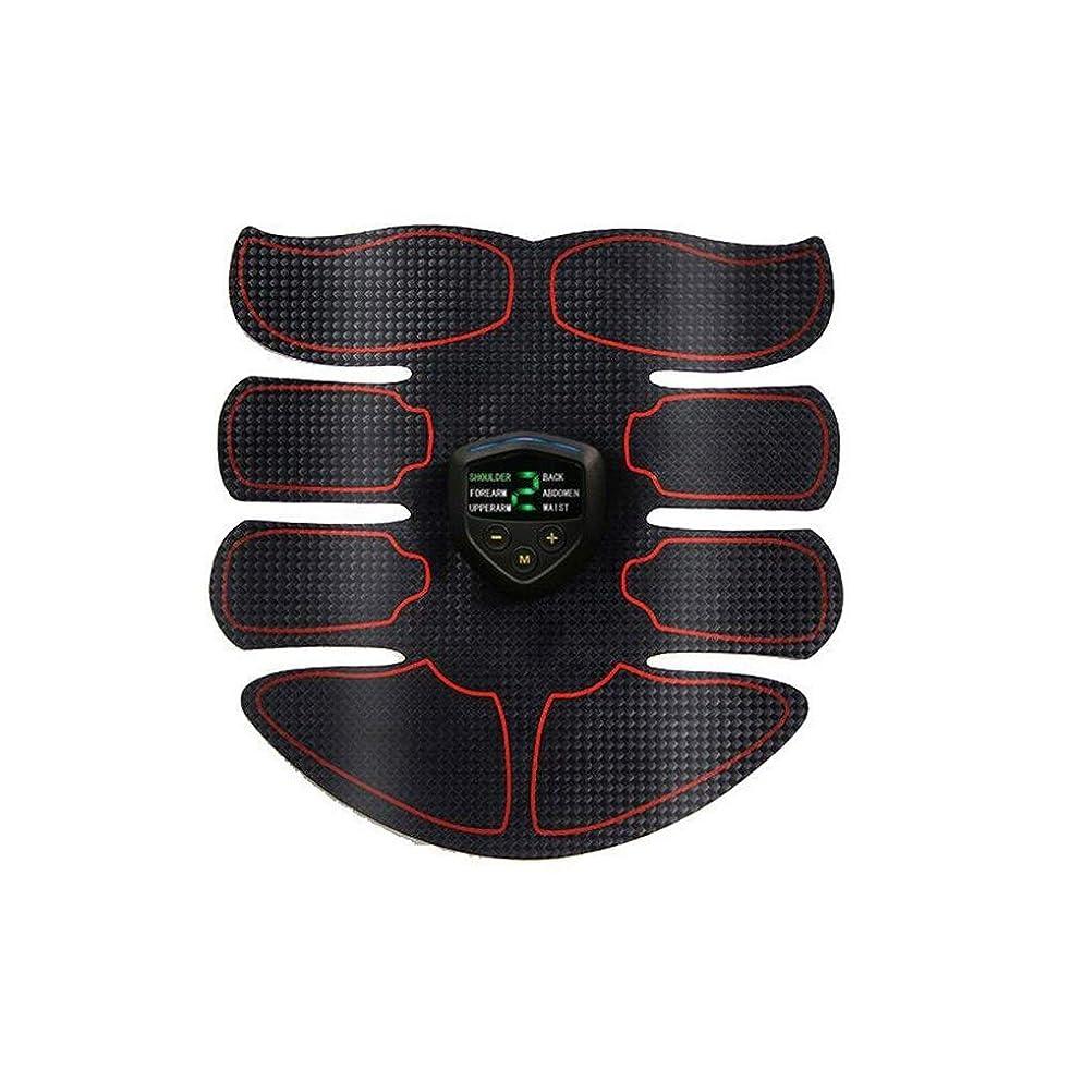 吸う雄大な値するABS刺激&筋肉トナー腹部調色ベルト&EMSボディ筋肉トレーナー脂肪バーナー機器6モード9グレード刺激強度ポータブルusb充電器 (Color : Plaid, Size : A)