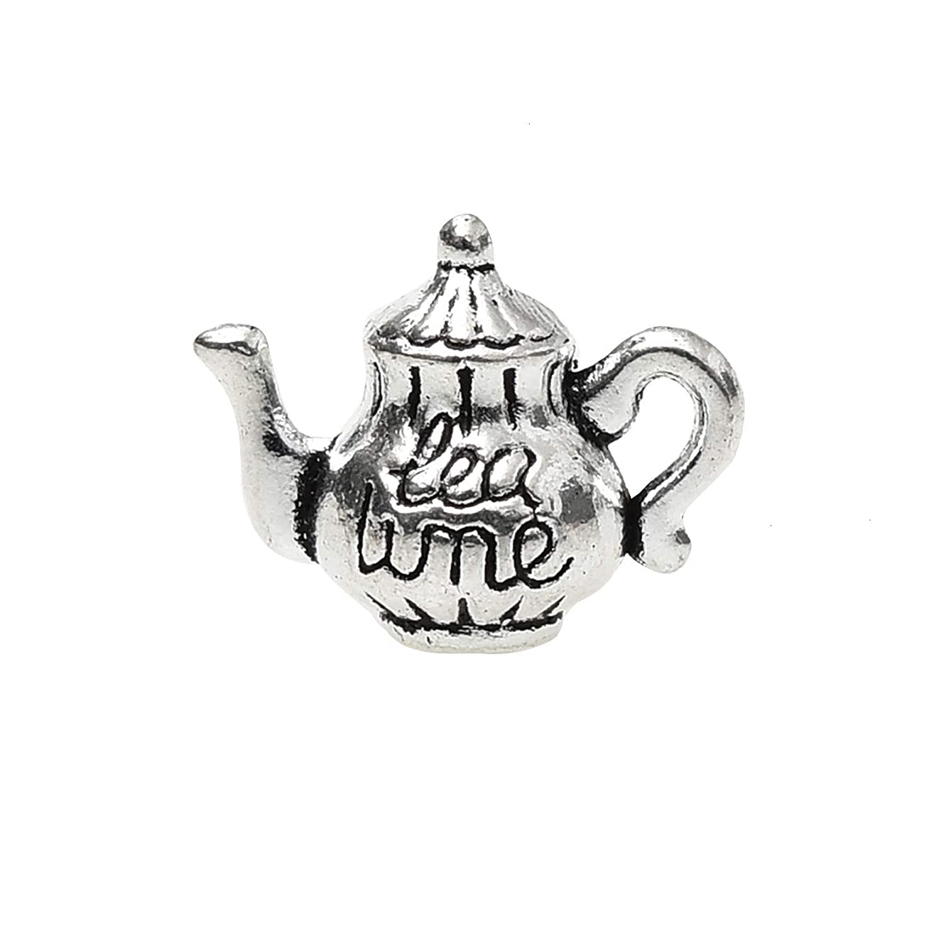 Monrocco 40 Pieces Silver Teapot Teapot Tea Kettle Pot Charms Pendants for Jewelry Making Crafting Necklace Earrings