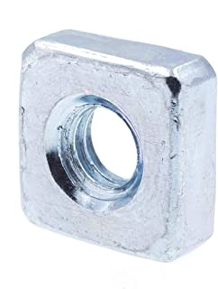 Steel 1-1//2-6 40 pcs Zinc Plated Square Nuts