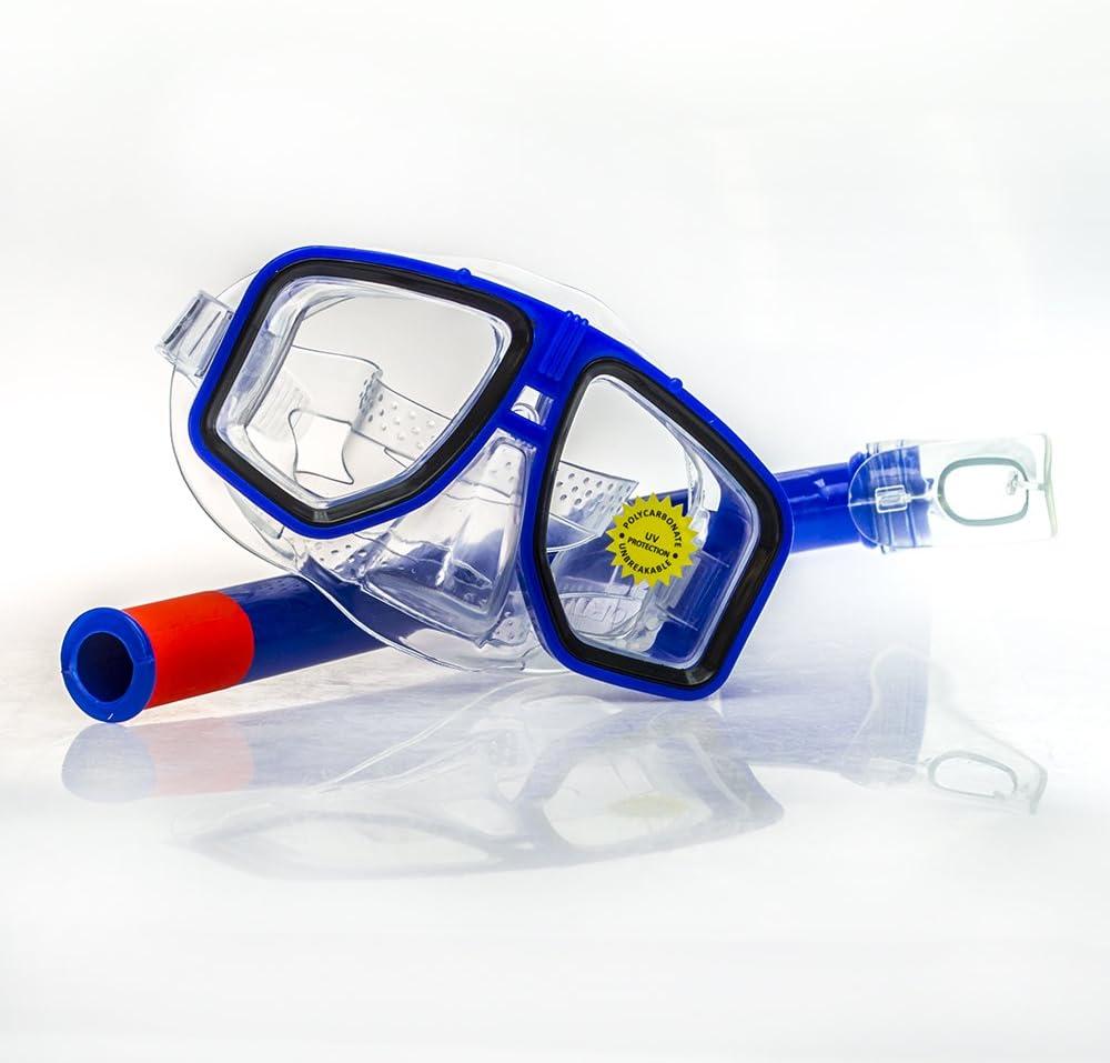 Rockin Gear Dive Mask Aviator Style Scuba Diving mask Swimming Adult Recreation Mask Aviator mask /& Snorkel Set