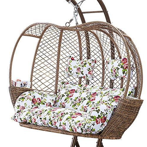 GGYDD Hamaca almohadillas para silla para interiores y exteriores, solo cojín, cojín para silla de huevo, grueso para colgar en la cesta de asiento