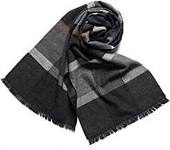 YALALQDD Cotton Men Scarf Plaid Thick Shawl 30X180cm Cozy Wrap Oversized Shawl (Color : F7)