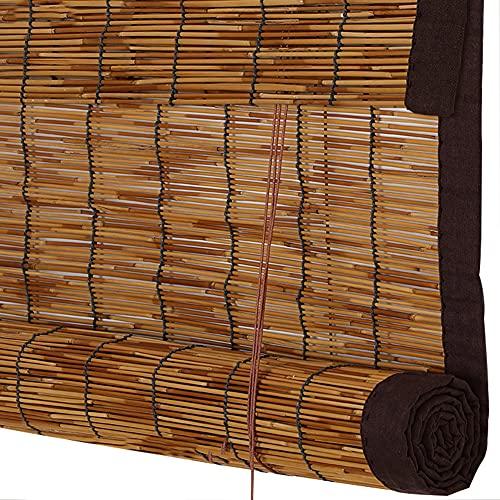 ELLENS Persianas de caña, persianas enrollables, persianas de bambú, Interior y Exterior, Cortina de Paja Decorativa Retro para Puertas y Ventanas, Personalizable