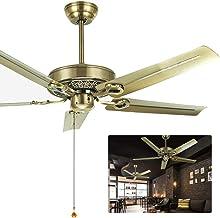 Retro Industriële Stijl Plafondventilator, voor Thuis School Commercial Slaapkamer Woonkamer, met Afstandsbediening & 5 Me...