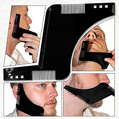 Beard Styling Shaping Shaving Tool Template and Trimming Comb to Lines & Symmetry!! from REDMONTANA