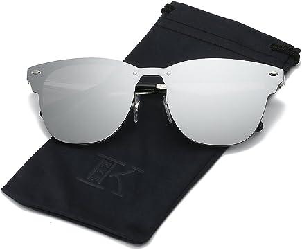 bc2a7a48b0 LKEYE Clubmaster Classic Unisex Sunglasses Futuristic Integral Rimless Lens  LK1738