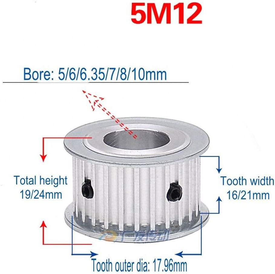 5M 12T Today's only Timing Pulley Without Step Pitch Synchronous Large special price 5mm Wheel 10