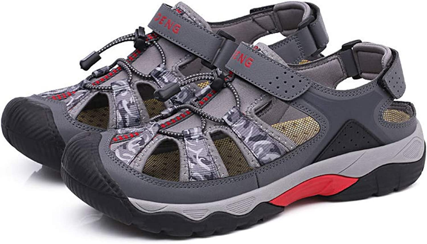 Men's Sandals Sports Outdoor Sandals Summer Casual Athletic Beach shoes Closed-Toe Fisherman Breathable Hiking Anti Collision,b,41