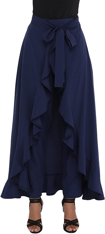 DESIGNER97 Women's Fashion Casual Trousers Harem Wide Leg Palazzo Pants