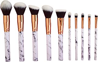 Professional 10 pcs Marble Pattern Cosmetic Make Up Brush Tools