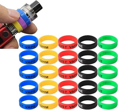 CESFONJER Vape Rings Silicone Anti Slip Band - pour mod mécaniques de réservoir RBA RDA - Diamètre 22 mm cigarette él...