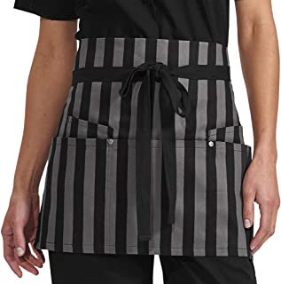 Bold Stripes Waist Apron with Grommets (Unisex Adult Sized) | Perfect for Chefs, Bakers, Home Kitchens, Restaurants, Servers, Uniforms, Gifts, Men, Women, Hobbyists, Professionals, and More