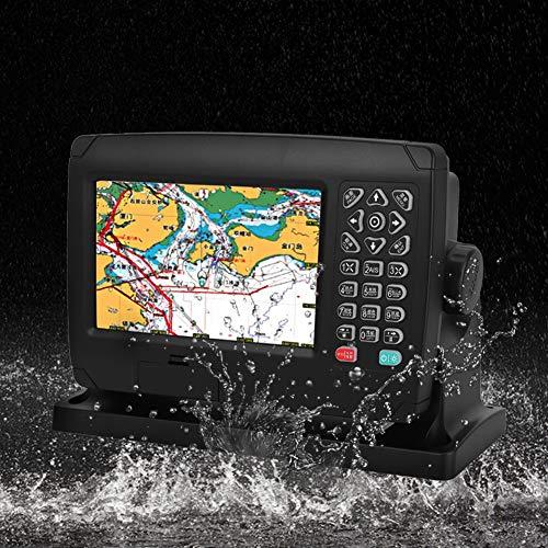 Pwshymi GPS náutico cartográfico, 200 rutas y 10000 waypoints Posicionador de navegación Pantalla a Color de 7 Pulgadas para navegación y posicionamiento