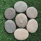 MRZJ Piedras grandes planas/piedras para pintar y jardín, piedras blancas, decorativas de mármol natural, para decoración de jardín, naturales acuario, de jardín, 5-8 cm,
