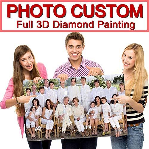 BFED Pittura Diamante 5D Fai da Te!Abitudine privata!Foto Personalizzata!Crea Il Tuo Diamante Pittura Trapano Diamante Pieno Strass ricamo-50x120 cm