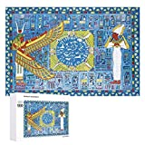1000 PCS Wooden Puzzle - Isis & Osiris Jigsaw Puzzles - Educational Fun Game for Adults and Kid - Family Decorations Pattern Toy - Wall Art Home Decor Jigsaw Puzzles