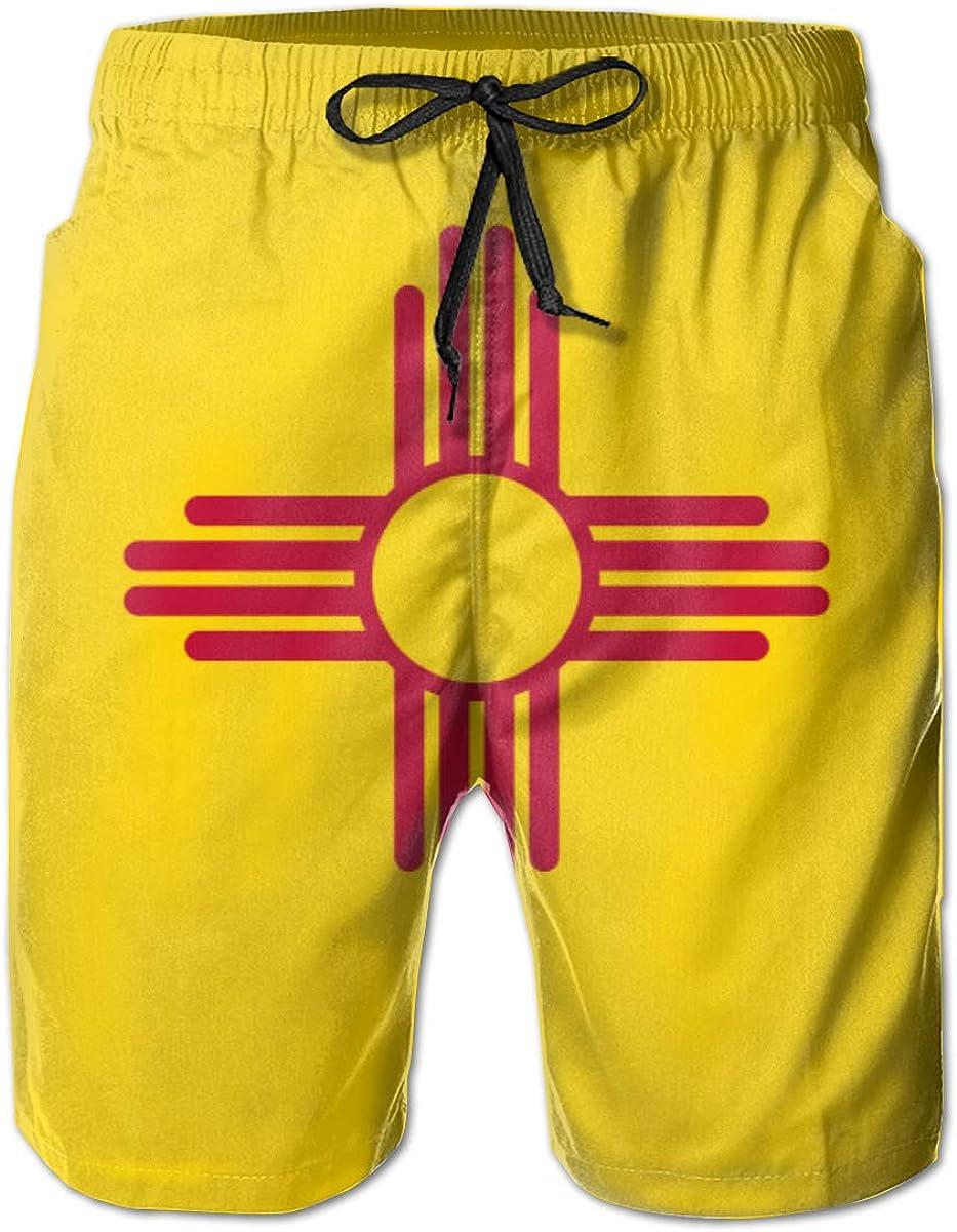 Jiulong New Mexico Max 61% OFF Flag Men's Great interest Summer Swim Surf Beach T Quick-Dry