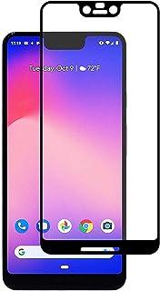 Google Pixel 3 XL (6. 3) 3D غطاء كامل منحني فاخر من الزجاج المقسى لحماية الشاشة بكسل 3XL المحمول مع إطار أسود