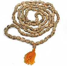 VRINDAVANBAZAAR.COM Wood Tulsi Mala/Rosary 108 Japa Beads/Tulsi mala Original 6 MM