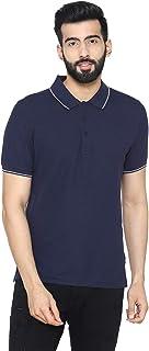 Bongio Men's Polo - Neck Half Sleeve Casual T-Shirt - Navy