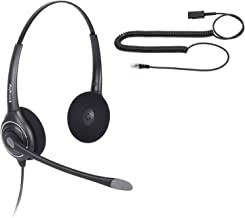 VoiceJoy Professional Cisco Headset with Sound Noise Cancellation and RJ9 Quick Disconnect Cord Binaural Call Center Headset for Cisco Phone Models 8821,7975,7945,6961 7821 7841 7861 8811 8841 etc