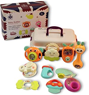 Sponsored Ad - Baby Rattles Teether Toys - Baby Teething Toys 6-12 Months Newborn Rattle Toys Infant Toys for Girls Rattle...