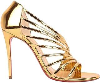 Christian Louboutin Women's 3190412GD21 Gold Leather Heels
