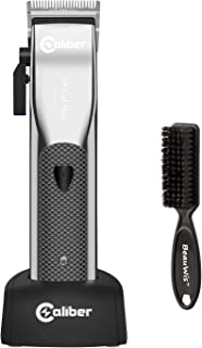 Caliber .50 Cal Mag Professional High Speed Magnetic Motor Cordless Clipper, Reliable Constant Power, 4 Hours Running Time - Used by Stylists & Barbers - Bundled with BeauWis Blade Brush