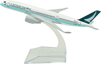 LESES 46cm 1:130 Scale Diecast Plane Model Hongkong Cathay Pacific B747 with LED Light Super Simulation Aircraft Model