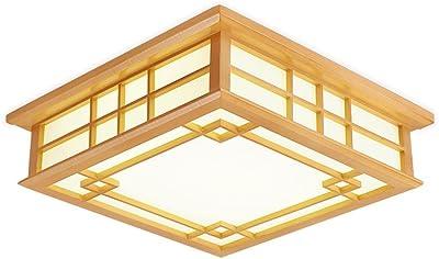 LYXG Japanische LED Lampen Leuchten aus massivem Holz Holz