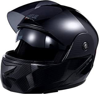 IMIKEYA Unisex Adult Full Face Flip up Modular Lightweight Full Face Motorcycle Street Bike Helmet Size S