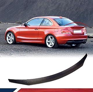 LCRAKON Becquets Arri/èRe adapt/é pour BMW 1-Series E87 E81 2004/— Fibre De Carbone Toit Arri/èRe De Spoilers
