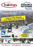 TrakMaps Snowmobile Ontario Map for Garmin including routable official OFSC trails of Ontario