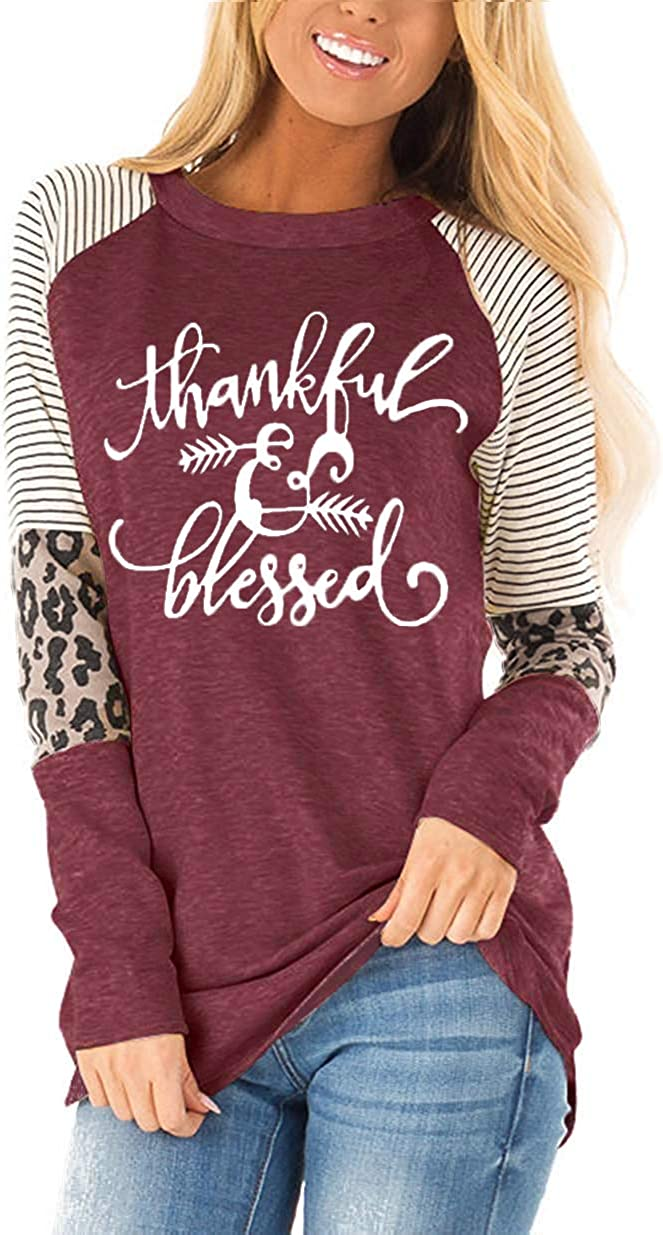 Bargain sale Fronage Womens Leopard Print Ranking TOP5 Tops Long Loose Sleeve Fit S Casual