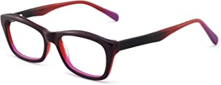 Women Fashion Eyewear Frames Colorful Rectangular Non-prescription Eyeglasses With Clear Lenses