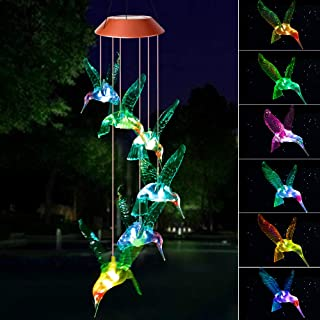 Wind Chimes Outdoor, Gifts for mom,Solar Wind Chimes,Hummingbird Wind Chimes,Glowing Wind Chimes,Outdoor Decor, mom Gifts,...