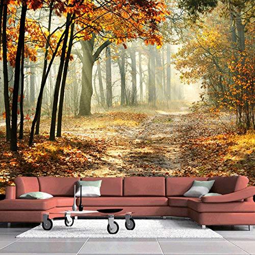 HUIJIE Fotomurales,Personalizado 3D Gran Mural Papel Pintado Moderno Otoño Bosque Sala De Estar Comedor Romántica Decoración De La Pared De Pintura De La Pared, 280Cm(H)×460Cm(W)