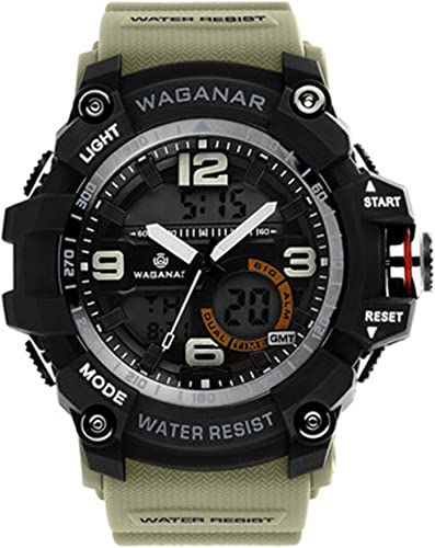 wholesale WAGANAR Digital Sports Watch, Dual Time Display, Large Face Outdoor Waterproof Military Chronograph new arrival Wrist Watch for Men with online Multi-Function Army Stopwatch outlet sale