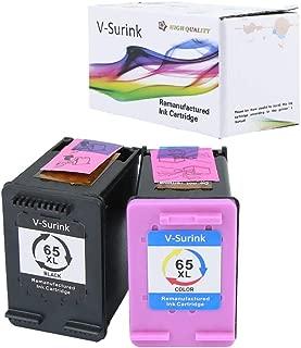 V-Surink Remanufactured Ink Cartridge Replacement for Hp 65XL (1 Black, 1 Color) Compatible with AMP 100 120 125 130 Envy 5010 5020 5030 5055 5052 5058 Deskjet 3755 2655 3720 3722 3752 3758 2652 2624