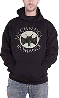 My Chemical Romance Hoodie Bat Band Logo Official Mens Black Pullover
