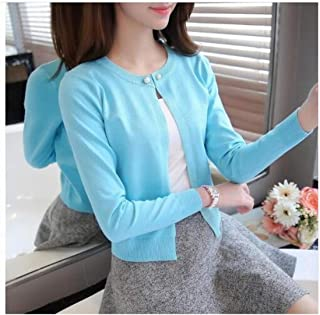 Light household Knitted Cardigan Women Spring Autumn Long Sleeve Sweater Cardigan Single Button Pull Femme