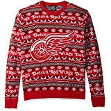 NHL Detroit Red Wings Unisex Aztec Print Ugly Crew Neck Sweater - Mens Double Extra Large, Xx-Large