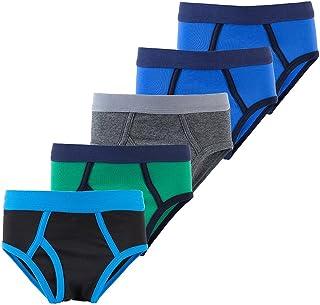 B.GKAKA Boys Briefs Toddler Solid Color Kids Underwear 5 Pack