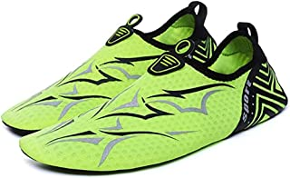 ウォーターシューズビーチソックスユニセックスアウトドアスポーツベアフットスキンソフトはビーチソックスアクア靴下ノンスリップ軽量スリップシューズ,グリーン,37