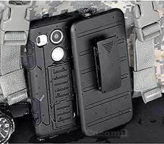 Cocomii Robot Armor LG Nexus 5X Case New [Heavy Duty] Premium Belt Clip Holster Kickstand Shockproof Hard Bumper Shell [Military Defender] Full Body Dual Layer Rugged Cover for LG Nexus 5X (R.Black)