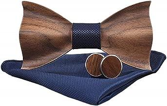 Gaira Pajarita corbatin de madera Tirantes elaticos ajustable tendencia clasica para bodas y fiestas elegantes Regalo para hombres