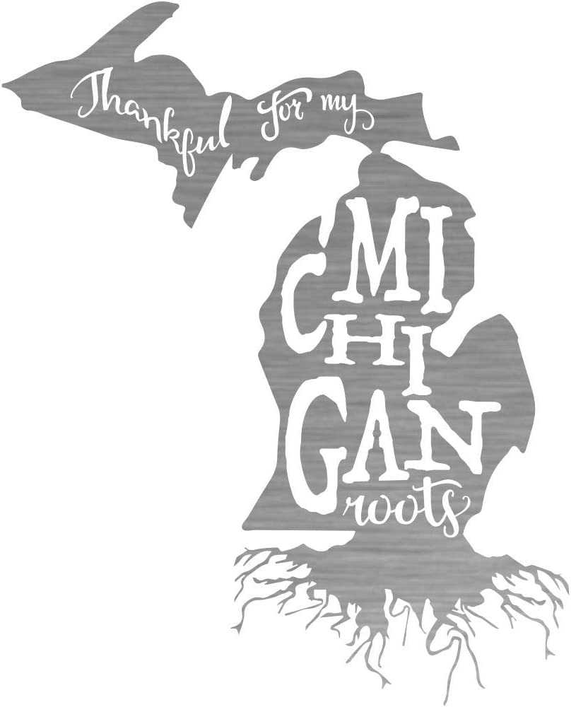 Michigan Roots Steel Laser Cut Wall Art half in Shiny a Natural Sale Special Price