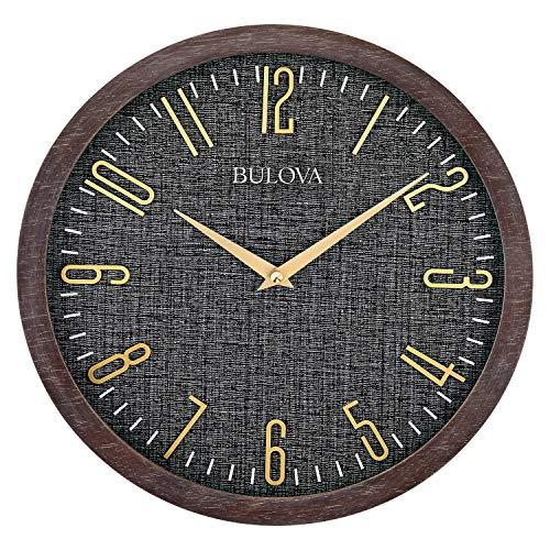 """Bulova Lowell Wall Clock, 13"""", Espresso"""