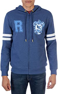 Harry Potter Ravenclaw Zip-up Hoodie Sweatshirt-X-Large