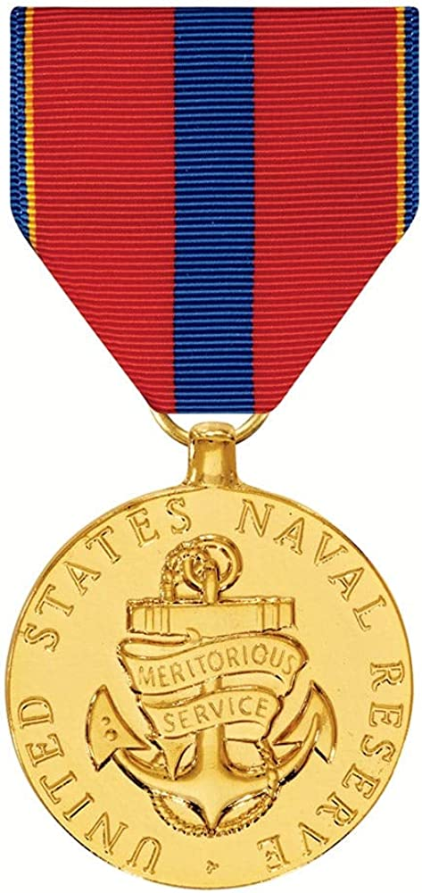 Naval Reserve Meritorious Service Chicago Mall Washington Mall Medal Gold Plated
